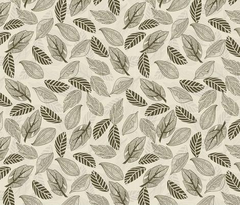 Leaves in vector fabric by anastasiia-ku on Spoonflower - custom fabric