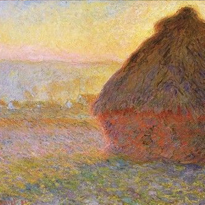 Monet - Haystacks (sunset) 1890-1891