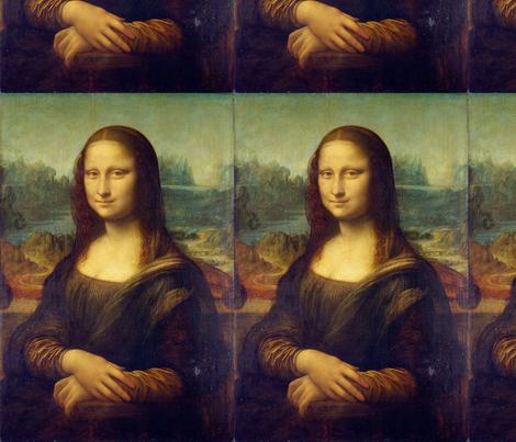 da Vinci - Mona Lisa (1506) - Half Size fabric by studiofibonacci on Spoonflower - custom fabric