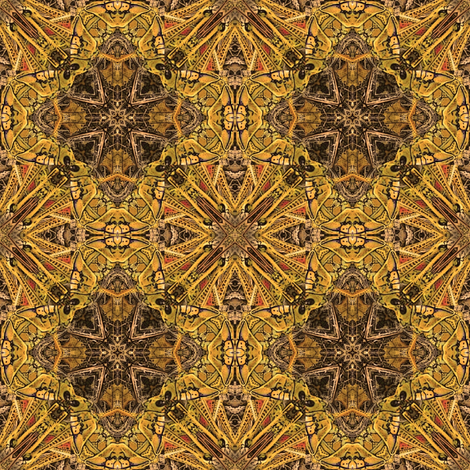 grasshopper-gld_011 fabric by wren_leyland on Spoonflower - custom fabric