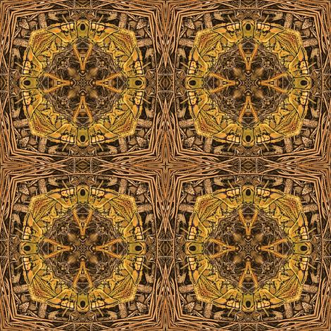 grasshopper-gld_016 fabric by wren_leyland on Spoonflower - custom fabric