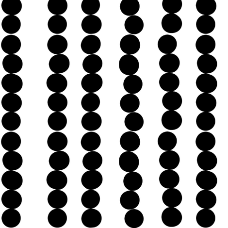 Imperfect Circles in Black and White fabric by bluenini on Spoonflower - custom fabric