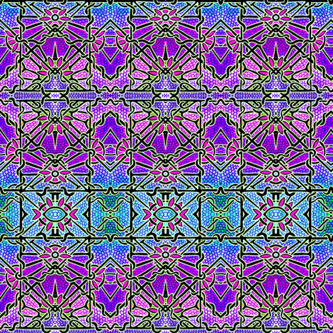 Gothic Stained Glass Window fabric by edsel2084 on Spoonflower - custom fabric