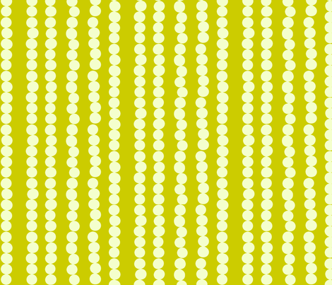 Imperfect Circles in Pearl and Chartreuse  fabric by bluenini on Spoonflower - custom fabric