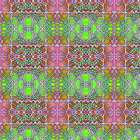 Lime and Orange Macrame Net fabric by edsel2084 on Spoonflower - custom fabric