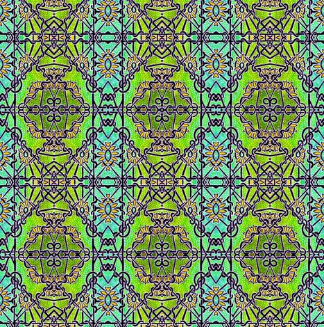 Daisy Dazed Fence fabric by edsel2084 on Spoonflower - custom fabric