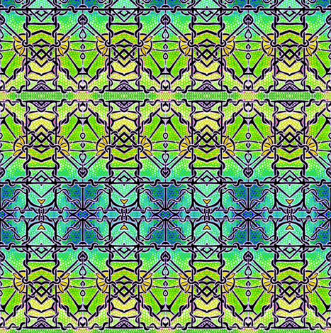 Stained Glass Gothic fabric by edsel2084 on Spoonflower - custom fabric