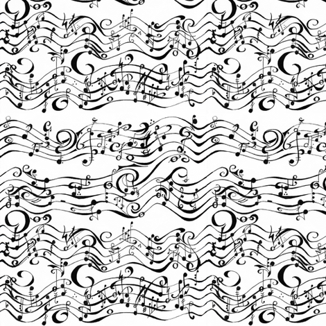 Phantom Music fabric by kellyw on Spoonflower - custom fabric