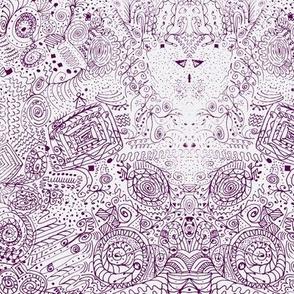 Doodle Spiral Swirlygigs in Purple