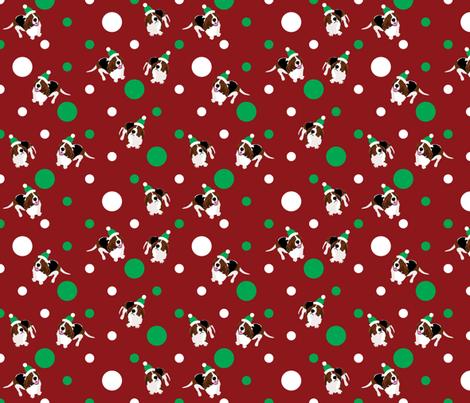 Happy Howlidays (Red) fabric by robyriker on Spoonflower - custom fabric