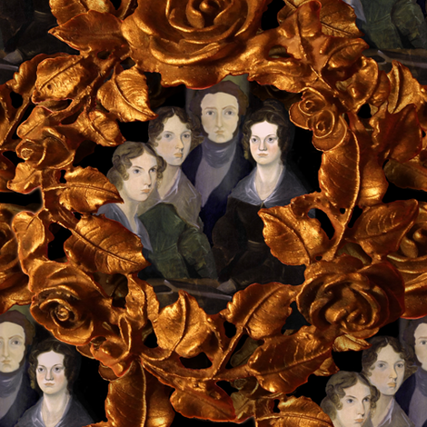 The Bronte Family Reunion fabric by peacoquettedesigns on Spoonflower - custom fabric