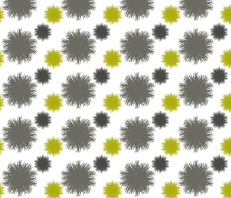 Poufs in Grey and Lime fabric by bluenini on Spoonflower - custom fabric