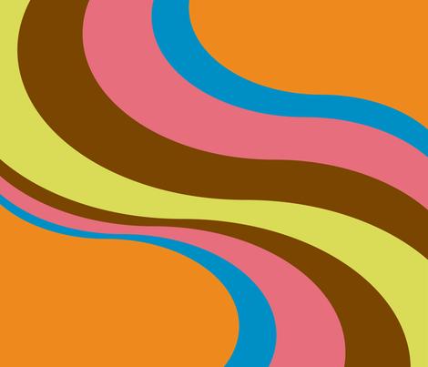 Flow fabric by ghennah on Spoonflower - custom fabric