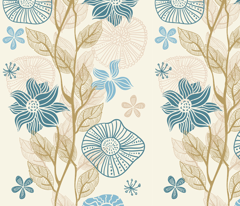 vertical floral pattern fabric by anastasiia-ku on Spoonflower - custom fabric