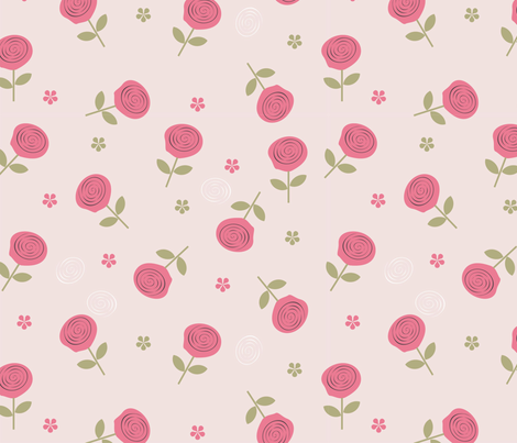 Flowers in Vector fabric by anastasiia-ku on Spoonflower - custom fabric