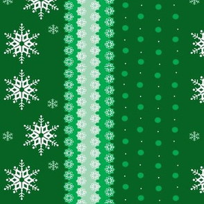 snowflakes on green