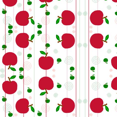 apples fabric by squeakyangel on Spoonflower - custom fabric