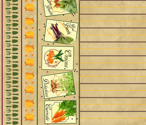 My Vegetable Garden Seed Packets fabric by jabiroo on Spoonflower - custom fabric