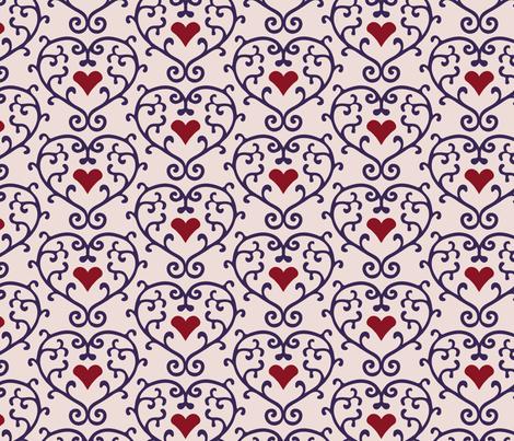 Russian Heart fabric by kezia on Spoonflower - custom fabric
