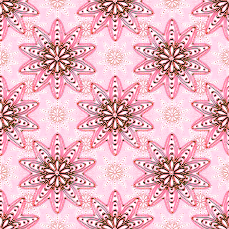 Ornamentation pink metallic fabric by joanmclemore on Spoonflower - custom fabric