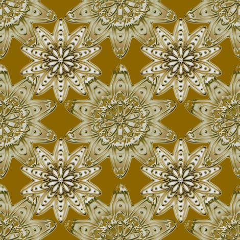 Ornamentation sienna metallic fabric by joanmclemore on Spoonflower - custom fabric