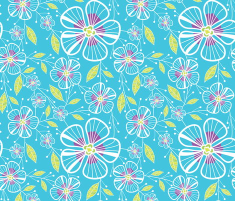 A Blue Bouquet fabric by robyriker on Spoonflower - custom fabric