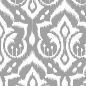 Ikat Damask - Gray Skies