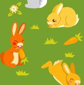 Bunnies   green