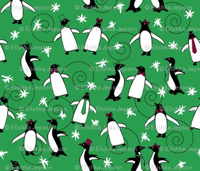 A Merry Penguin Christmas (Green)