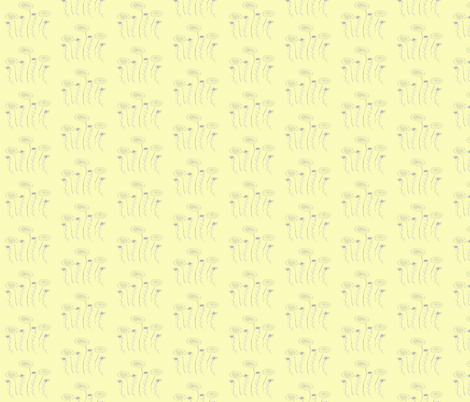 Yellow Dandis fabric by garwooddesigns on Spoonflower - custom fabric