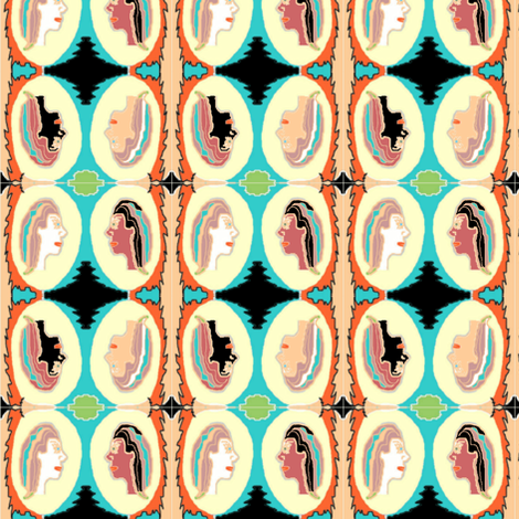 Cameo in Quartette fabric by sherryann on Spoonflower - custom fabric