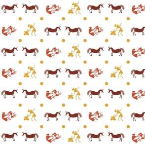 tribal animal fgures