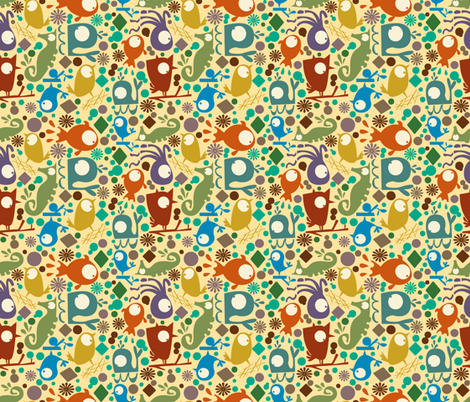 Hole Punch Pals- Colorful Delight fabric by gsonge on Spoonflower - custom fabric