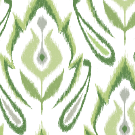 Spearmint IKAT fabric by pattysloniger on Spoonflower - custom fabric