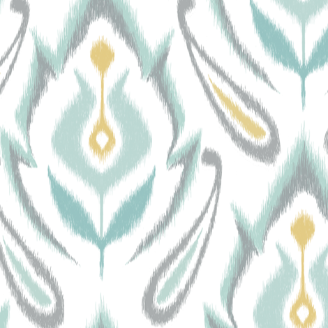 Soft Ikat fabric by pattysloniger on Spoonflower - custom fabric
