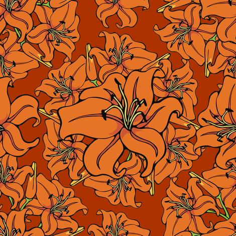 Day lilies amok fabric by hannafate on Spoonflower - custom fabric