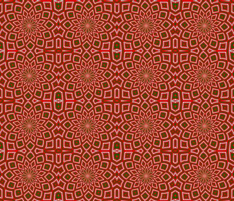 Christmas Kaleidoscope 01 fabric by katsanders on Spoonflower - custom fabric