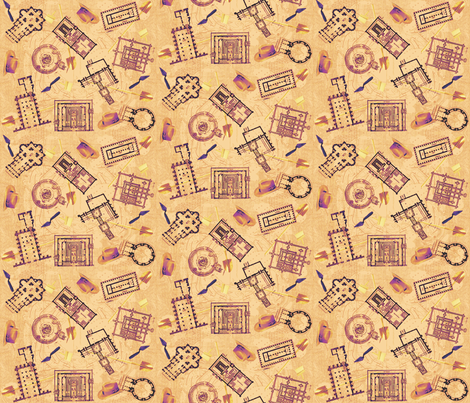 archaeologists - antiques fabric by glimmericks on Spoonflower - custom fabric