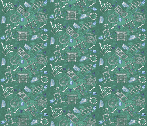 archaeologists - patina fabric by glimmericks on Spoonflower - custom fabric