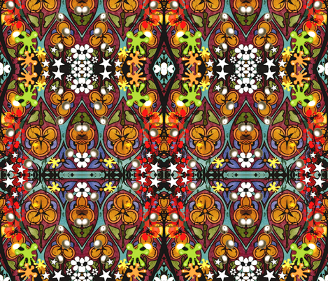 Crazy Daisy fabric by whimzwhirled on Spoonflower - custom fabric