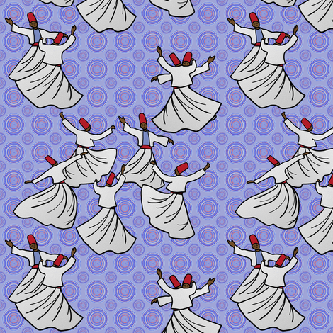 Whirling Dervish Competition, 1968 by Su_G fabric by su_g on Spoonflower - custom fabric