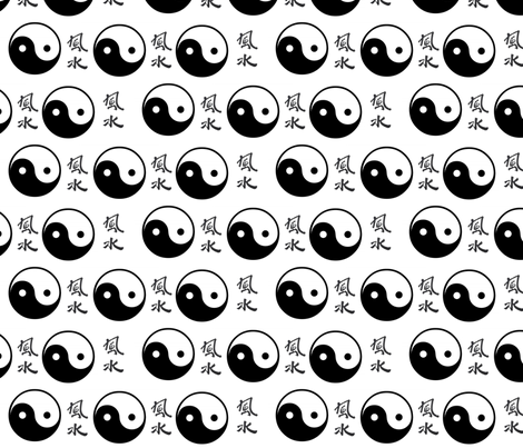yin&yang fabric by _vandecraats on Spoonflower - custom fabric