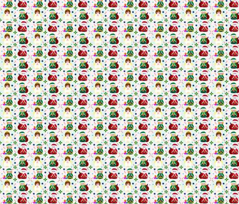 Angel, Santa & Elves too! fabric by squeakyangel on Spoonflower - custom fabric