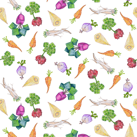 baby square roots on white fabric by weavingmajor on Spoonflower - custom fabric