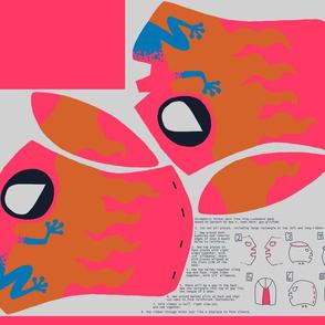 Poison Dart Frog Lucha Libre Mask