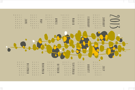 mod vine calendar fabric by monmeehan on Spoonflower - custom fabric