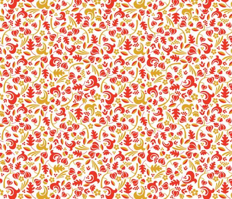 Autumn Calico fabric by acbeilke on Spoonflower - custom fabric