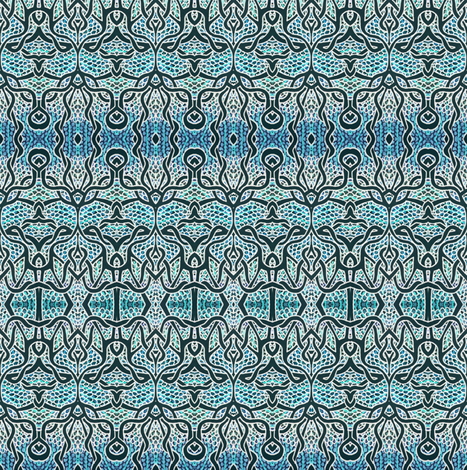 Gothique Nouveau at dawn fabric by edsel2084 on Spoonflower - custom fabric