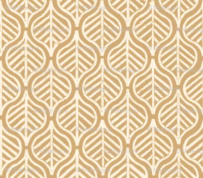 Indian Leaf / Taupe & Cream