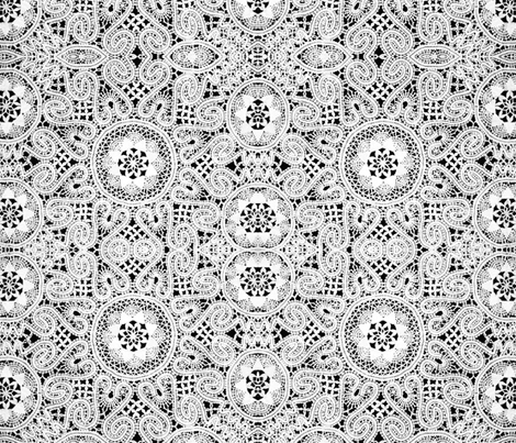 White Lace fabric by whimzwhirled on Spoonflower - custom fabric